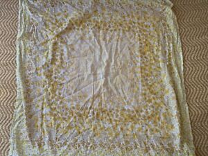 """UO Yellow Floral Tapestry, 50""""x50"""", BNWT"""