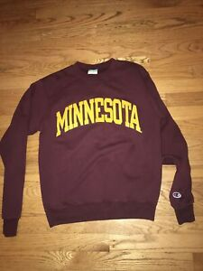 Minnesota Gophers Champion ECO Crewneck Sweatshirt Small S Vintage Gophers