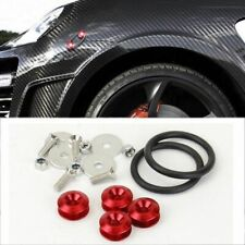 Red Stabilizer Fast Quick Release Secure Kit For Honda Front Rear Bumper Lip