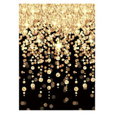 40ft Hollywood Black Gold New Years Eve Room Scene Backdrop Party Decoration
