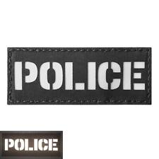 police morale 2x5 reflective tactical SWAT laser cut hook-and-loop patch