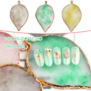 1x Leaf Shaped Resin Nail Art Plate Gel Polish Holder For Manicure Painting Tool