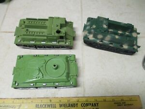 VTG Lot Marx MPC Tim Mee IDeal Howitzer APC Weasel Tanks Army Men Vehicles Parts