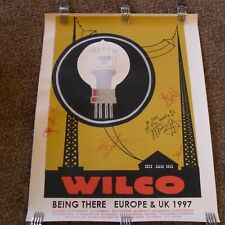 Early WILCO poster signed by full band Jeff Tweedy Jay Bennett rare!
