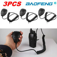 3x For Baofeng BF-UV5R Shoulder Handheld Mini Walkie Talkie Speaker Mic Radio F7