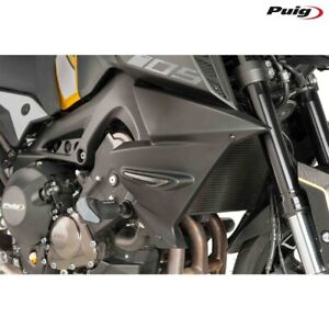 PUIG 9378J Pair Side Panels Radiator Aerodynamics Matte Black Yamaha MT-09 201