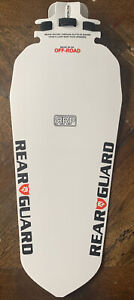 RRP Rapid Racer Products Rearguard Off-Road V2 Quick Fit Rear Mudguard White NEW