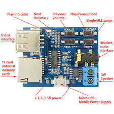 TF card U disk MP3 Format Decoder Board Module Amplifier Decoding audio Player