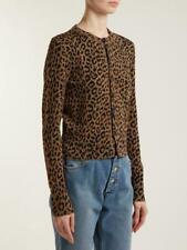 Balanciaga Leopard Jacquard Cardigan Size FR 36 $1090