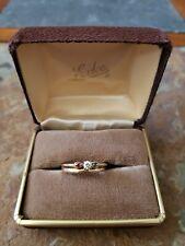 Ring Set Size 8 Weight 3.1 grams 14 Karat Gold & Diamond Ring Engagement Wedding