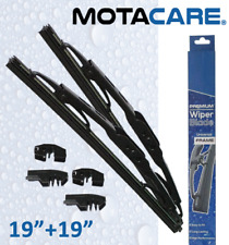 "19"" + 19"" INCH PREMIUM UNIVERSAL FRAME WIPER BLADES CAR WINDSCREEN REPLACEMENT"