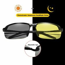 Men Photochromic Polarized Sunglasses Day and Night UV400 Driving Sports Glasses