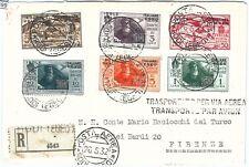 71499 - EGEO - Storia Postale - Serie DANTE aerea su BUSTA raccomandata LEONARDO