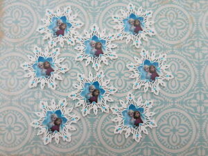 Frozen Planar Flat Back Anna Elsa Resins Cabochons Hair Bow Making, 2x 4x 8x