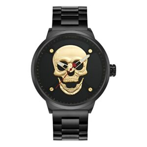 Men's Skull Watch w/ Matching Gift Box, Get it FAST for Halloween