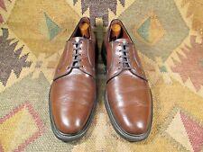 7ac851225b Vtg NUNN BUSH Brown Textured Leather Plain Toe Oxford size USA -12 A  narrow