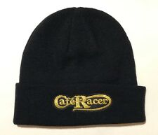 Cafe Racer Motorcycle Knit Hat Black New British Cap Retro Moto Embroidered