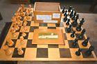 John Jacques Staunton Chess Set Complete VGC Wgtd Baized Boxed Big King 8.5cm