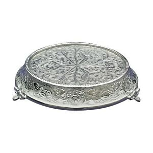 """GiftBay Wedding Cake Stand Tapered Round 12"""" Silver, Sturdy for Multilayer Cake"""