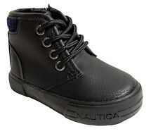 Toddler Nautica boots Black Lace Tie Zipper  size 5 5C NWOT
