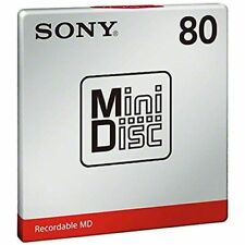 1 Sony MD80 Blank Mini Disc 80 Minutes Recordable MD - Genuine UK Supplier