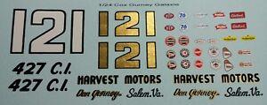 Repro 1/24 Cox Dan Gurney Ford Galaxie Decal Set