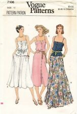 1970's VTG VOGUE Misses' Dress or Top and Skirt Pattern 7106 Size 12 UNCUT