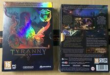 TYRANNY SPECIAL LIMITED EDITION PC DVD NEW SEALED FULL ENGLISH COLLECTOR'S