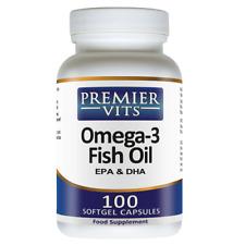Omega - 3 aceite de pescado, EPA & DHA 1000mg X 100 Sgels, premiervits, despacho 24 horas
