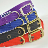 Ancol Nylon Dog Collar 8 Sizes Soft Strong Heritage Black Blue Red Purple Pink