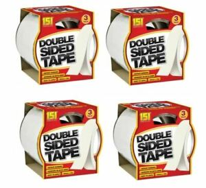 Adhesives Double Sided Sticky Tape 3pk 10m x 24mm Instant Bonding
