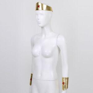 Adult Star Decor Tiara Headdress Cuff Golden Yellow Headpiece for Festival Gift