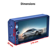 """7"""" Double 2 Din Car GPS Navigation MP5 MP3 Radio Player RDS No-DVD/CD w/ US Map"""