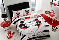 Duvet Quilt Cover Set Double Queen 100% Cotton Bedding Mickey Minnie Mouse