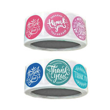 1000 Pieces Thank You Packaging Sealing Stickers Round Labels Craft 1