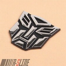 Transformers Emblem Sticker Badge Decal Car Stickers Truck For Autobot 3D Chrome