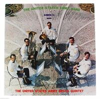 UNITED STATES ARMY Brass Quintet LP Record 70s US Military Band Washington DC