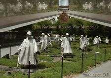 The National Korean War Memorial Washington D.C., Soldiers, Military -- Postcard