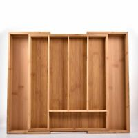 Adjustable Storage Tray 7 Compartments Cutlery Drawer Cabinet Divider Organizer