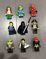 9 x Genuine LEGO Minifigures - BULK BUY PACK (Star Wars, City, Ninjago and more)