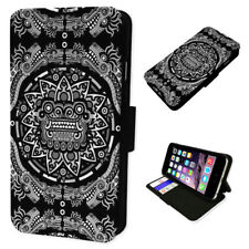 Aztec Tribal Gargoyle Art - Flip Phone Case Wallet Cover Fits Iphone 6 7 8 X 11