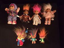 Lot 7 Troll Dolls Thanksgiving Ballerina Clown Lucky Russ Burger King Trolls