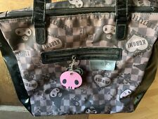 RARE 2006 Sanrio Kuromi My Melody Brown Checkered Kawaii PVC Tote Purse Bag