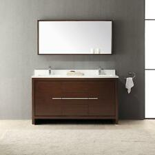 "Fresca Allier 60"" Double Vanity in  Wenge Brown  and Mirror  FVN8119WG"