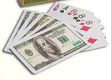 Two Decks~$100-Bill-Playing Cards~Great Cards For the Price~Buy-2-Get-3rd-FREE