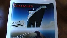 2002 Razzia Cherbourg Queen Mary II Lithograph Poster