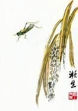 Grasshopper 15x22 Chinese Print by Ch'i Pai-shih Asian Art