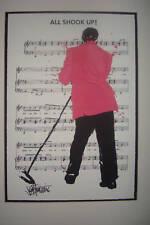 Elvis Presley Giclee Art Signed Joe Petruccio All Shook Up