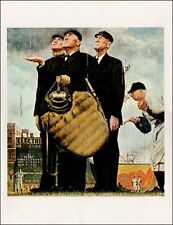 Norman Rockwell Baseball Print Bottom Of The Sixth