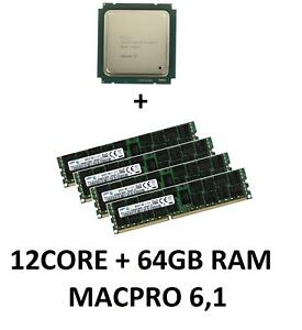 Intel Xeon e5-2697v2 12 Core 2,7 GHz CPU + 64GB 1866 MHz RAM Apple MacPro 6,1